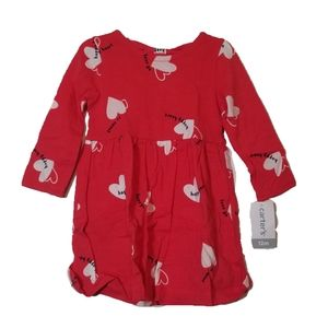 Carter's Girl Red Heart Valentines Day Dress
